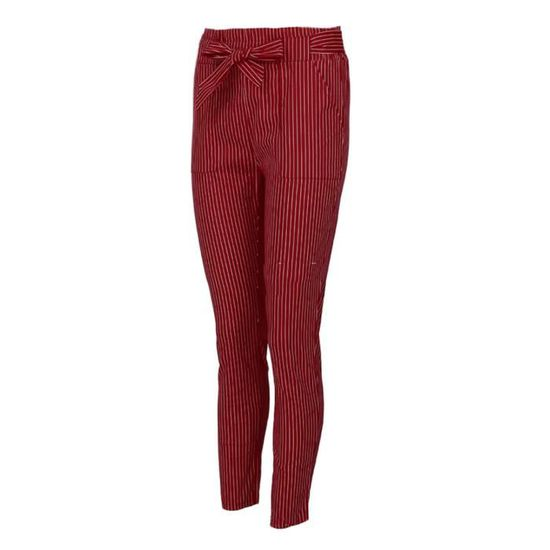 Minetom Femme Pantalons Été Casual Slim Chic Mode Crayon Taille Haute  Elastique Couleur Uni Avec Ceinture A rouge - Achat   Vente pantalon -  Cdiscount e8a3d9aed38