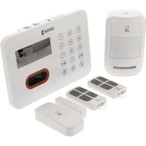 KIT ALARME KONIG Pack Alarme maison sans fil 433 MHz 90 dB SA