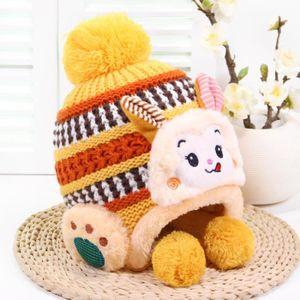 bd8fbf4a559 BONNET - CAGOULE Bonnet Chaud en Velours Tricot pour Enfants Filles