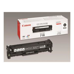 TONER Canon 718 Black Pack de 2 noir originale cartouche