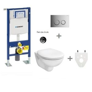 WC - TOILETTES Pack WC suspendu Geberit autoportant Plaque de com