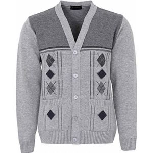 GILET - CARDIGAN Cardigan tricoté en maille à col en V pour hommes, 4fde35dd9fbc