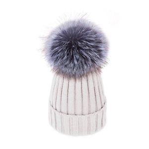 0d7e7968eea0 CHAPEAU - BOB UMIWE bonnet pompon Laine pour femme Blanc