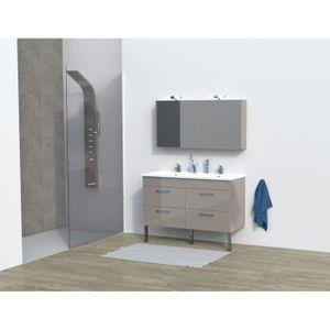 SALLE DE BAIN COMPLETE REGA Salle de bain complète double vasque L 120 cm