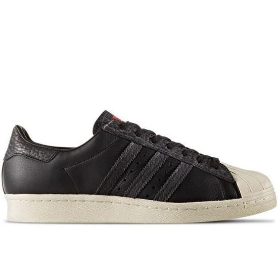 Chaussures Adidas - Superstar 80S Noir Noir - Adidas Achat / Vente basket 74f632