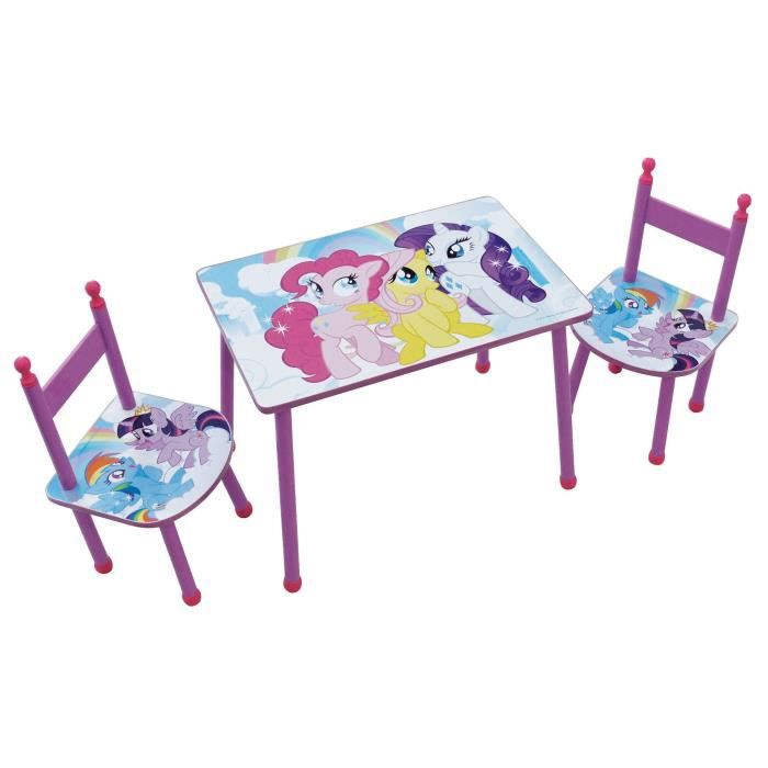 MON PETIT PONEY Ensemble table + chaise