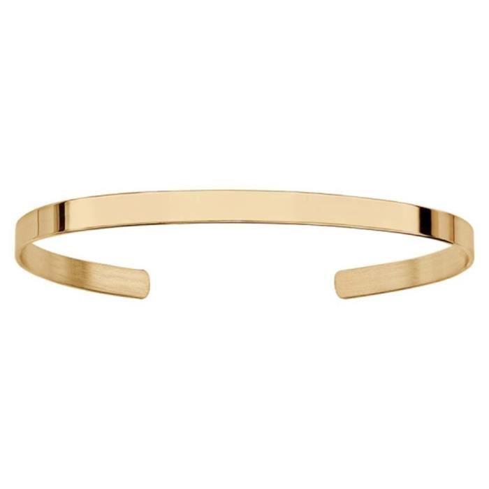Bracelet Plaqué Or Jaune Esclave Ouvert 4,5 mm