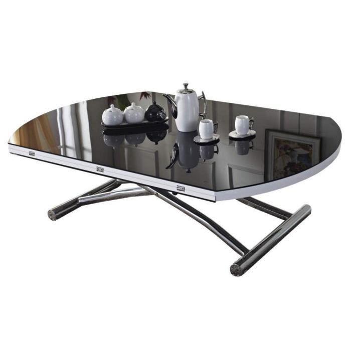 table basse ronde relevable et extensible planet noire achat vente table manger compl te. Black Bedroom Furniture Sets. Home Design Ideas