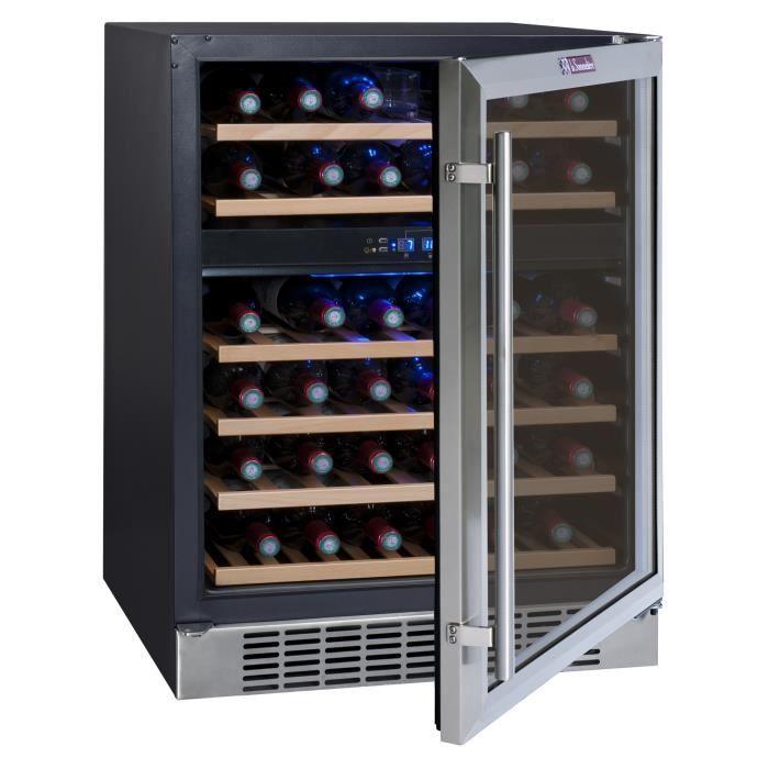 la sommeliere cvde46 2 cave vin de service 45 bouteilles encastrable classe b l 59 5. Black Bedroom Furniture Sets. Home Design Ideas