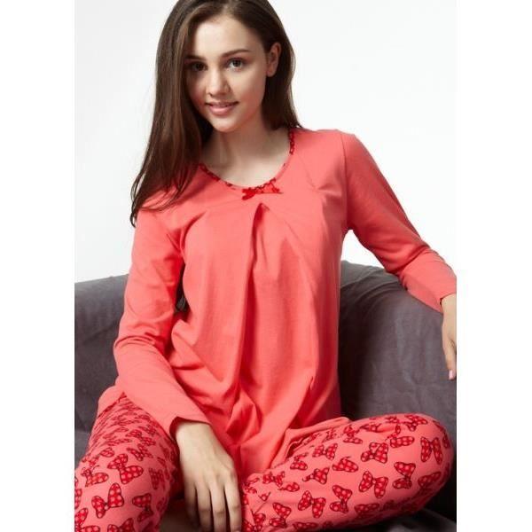 pyjama de grossesse et d 39 allaitement casual en coton rose achat vente chemise de nuit. Black Bedroom Furniture Sets. Home Design Ideas