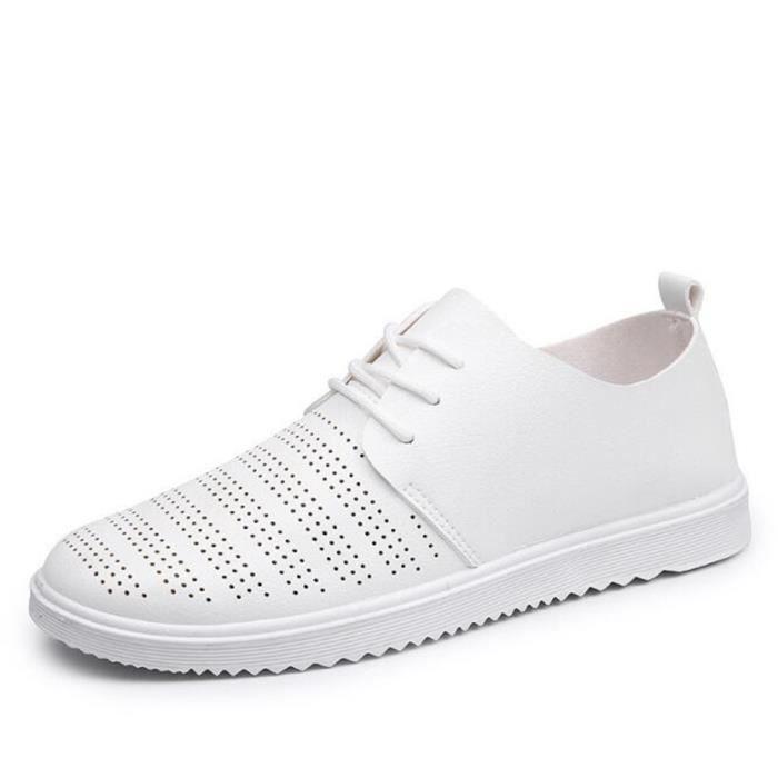 chaussure homme Marque De Luxe Moccasins perforé En Cuir Nouvelle Mode 2017 ete Loafer hommes Grande Taille Haut qualité 39-44