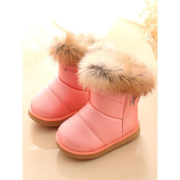 Chaussures fille d'hiver en peluche Épaissir chaud confortable Bottes de neige est doux Sole Kid 12002126
