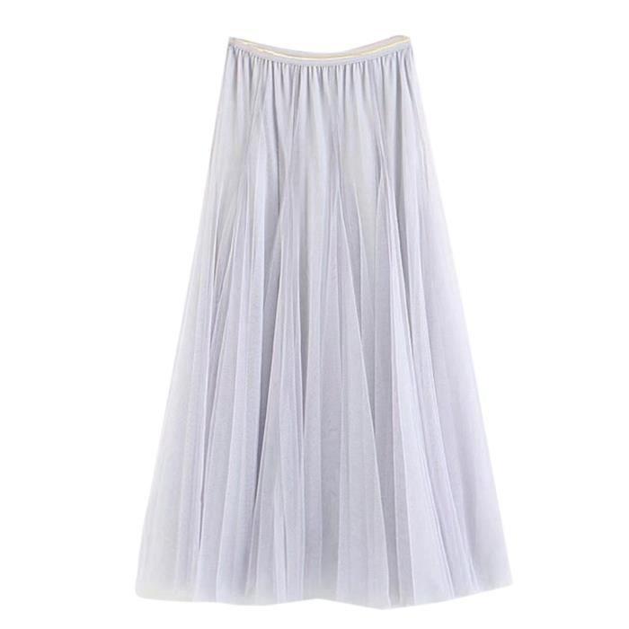 Tutu Jupe Long Haute Swing Tulle Filles Plissé Big Maxi Net Femmes Taille qzLSMGUVp