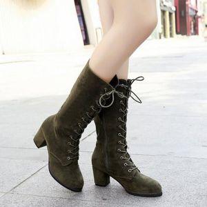 Sidneyki®Femmes Bottes Au-dessus du genou à talons hauts Hiver Automne Slip-on Loisirs Chaussures BKNoir WE86 bDXr4VmZLj