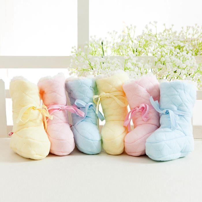 Chaussons bébé coton rose pour 0 à 12 mois mMqR94