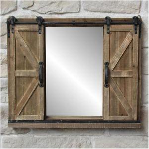 Miroir industriel noir - Achat / Vente pas cher