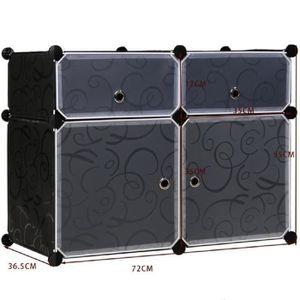 ARMOIRE DE CHAMBRE meuble rangement HOMDOX armoire du lit plastique r