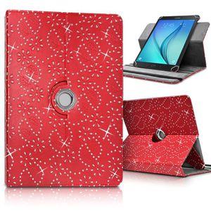 TABLETTE TACTILE Etui Support Universel L Diamant Rouge pour Tablet