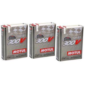 HUILE MOTEUR Huile moteur - MOTUL 104242 300V POWER 5W40 - 6 Li