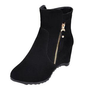 ac2eb1ca1293e2 BOTTE Femmes Chaussures chaudes Casual Bottes Compensées