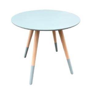 TABLE D'APPOINT Table café bleu D48 Mileo MDF, L.48 x l.48 x h.45