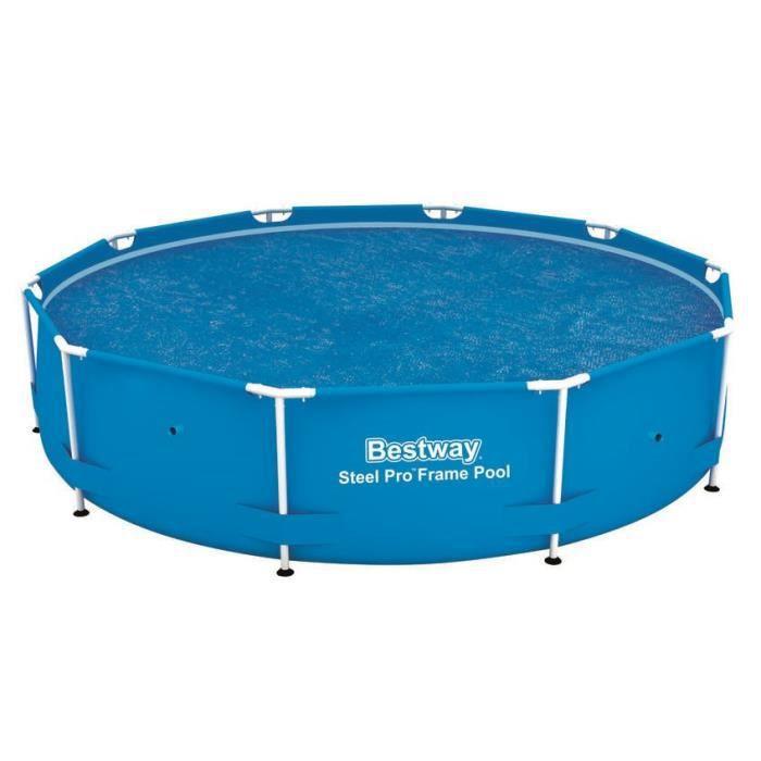 BESTWAY Bâche solaire Ø 289cm pour piscine Frame Pool Ø 305cm