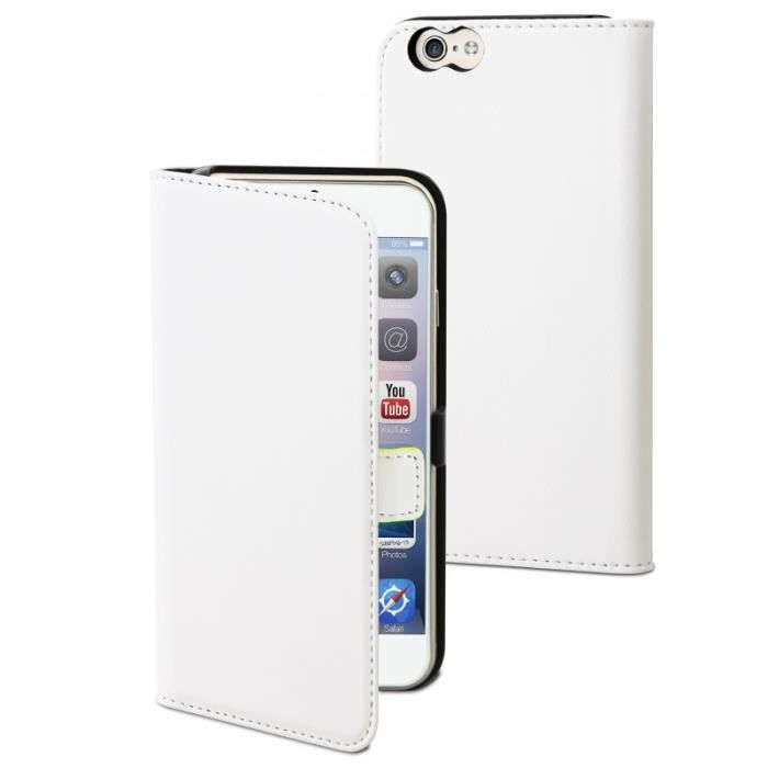 MUVIT Slim Etui - Blanc - Pour Apple Iphone 6, 6s +
