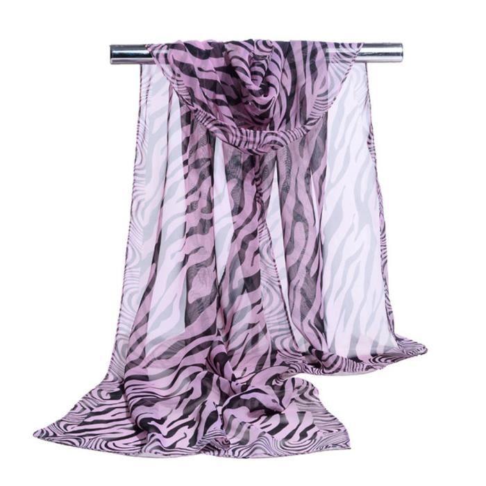 54506fccdba0 cd3157 cd3157 foulard pour femmes en mousseline de soie de rayure de zèbre  Imprime PP