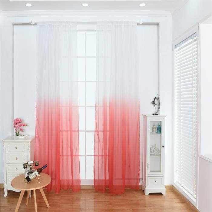 RIDEAU Rideaux de fenêtre de couleur dégradée pour salon