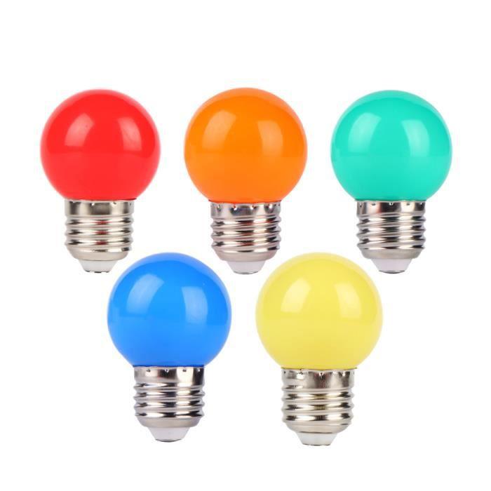 10w 100lm Lot De Lampes Ac220v 5 Spot Led À 70 Équivalent Coloré Couleurs Ampoules E27 1w qVpzLSGUMj