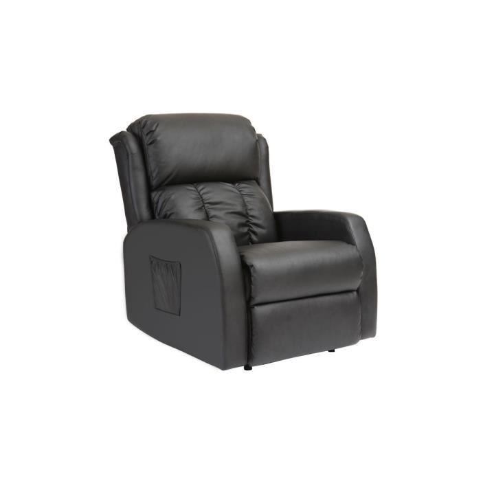 fauteuil relax lectrique massant noir galler achat. Black Bedroom Furniture Sets. Home Design Ideas