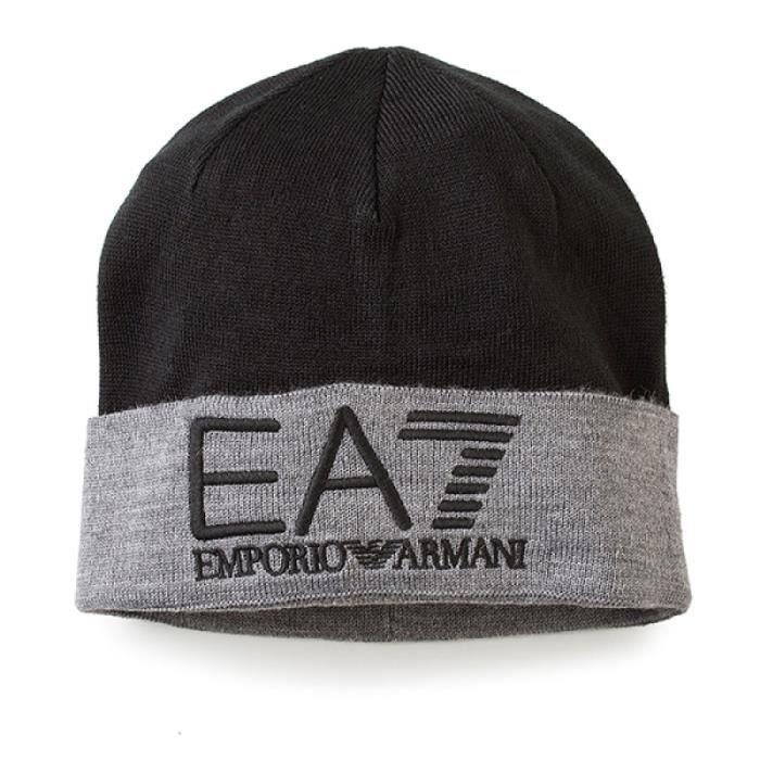 BONNET EA7 ARMANI MARINE MARINE GRIS - Achat   Vente bonnet ... 27551b9edc9