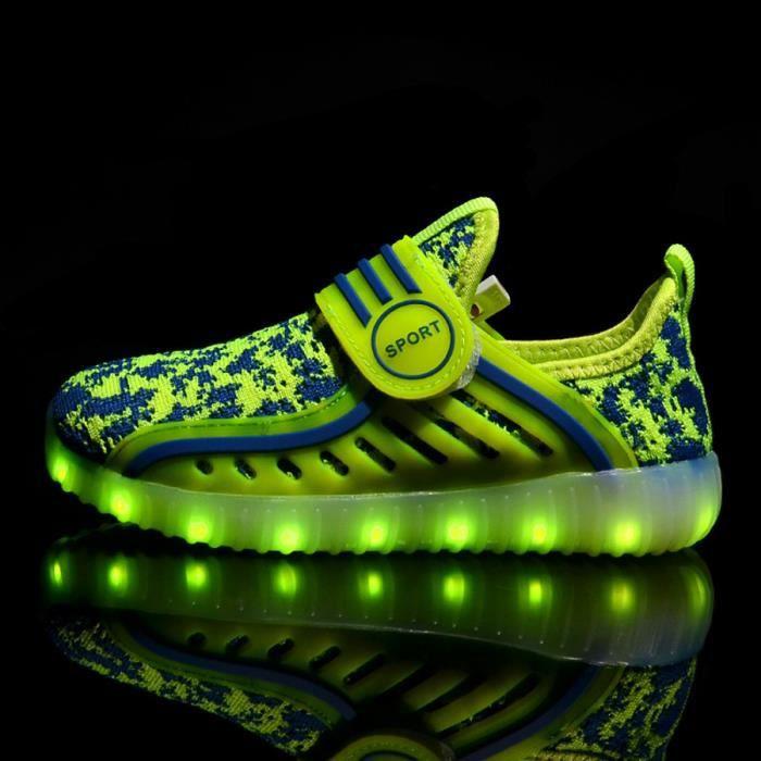 6106b3ba0c15c Baskets Enfants chaussures légères LED clignotant lumières ...