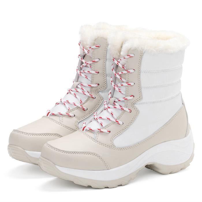 Martin Bottines Femmes Marque De Luxe personnalité Chaussures loisirs Chaud Hiver Bottes de neige Femme Bottine Plus Couleur