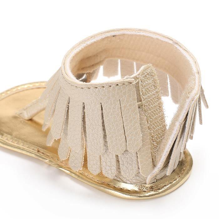 BOTTE Toddler Fille Crèche Chaussures Nouveau-Né Fleur Doux Semelle Anti-slip Bébé Sneakers Sandales@OrHM