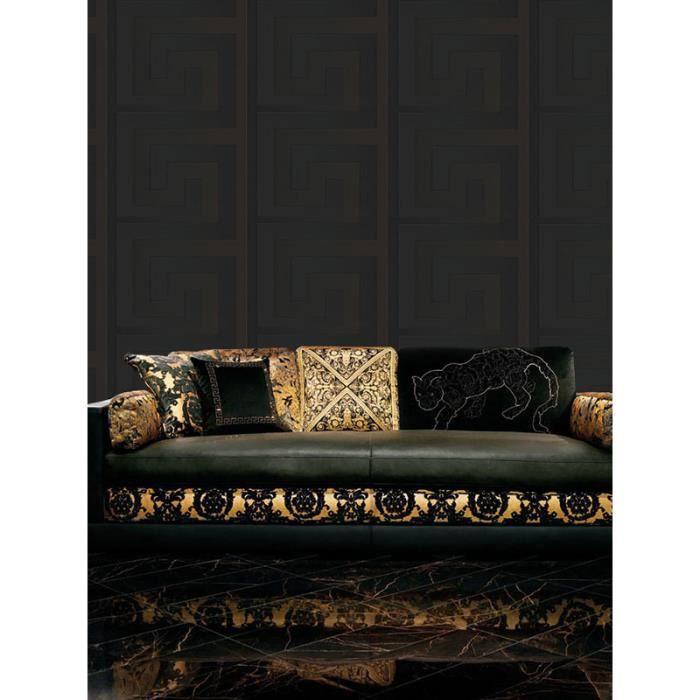 Versace Noir Cle Grecque Fond D Ecran 10 M X 70 Cm 93523 4 Achat