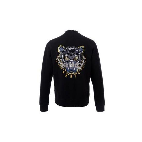c5767e27230 Blouson KENZO Tigre façon Teddy S Noir Noir - Achat   Vente sweatshirt -  Cdiscount