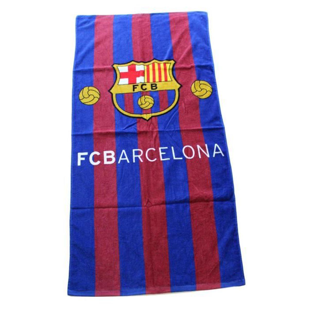 14d8a101e1f75b Serviette de Plage Drap de plage coton Fc barcelone Barça Messi Suarez