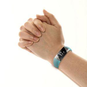 BRACELET D'ACTIVITÉ Bluetooth 4,0 LED imperméable à l'eau Smart poigne