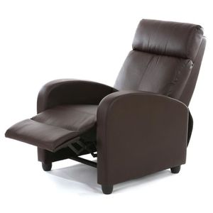 Fauteuil cuir inclinable Achat Vente pas cher