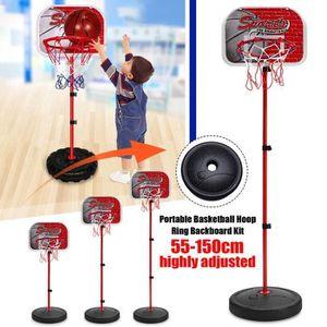 PANIER DE BASKET-BALL Panier De Basket Enfant Pied Réglable Hauteur Jeux