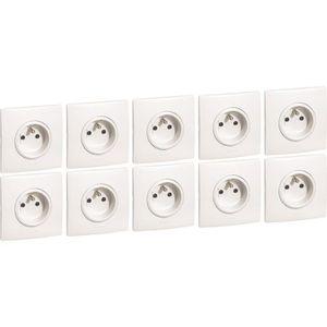 materiel electrique legrand pas cher excellent prise quadruple prcble surface cliane blanc with. Black Bedroom Furniture Sets. Home Design Ideas