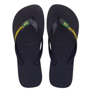 TONG Tongs HAVAIANAS brasil logo noir