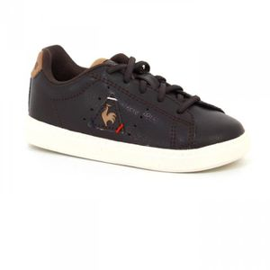 BASKET Chaussures Bebe Courtone Inf Velcros Lea Reglisse/
