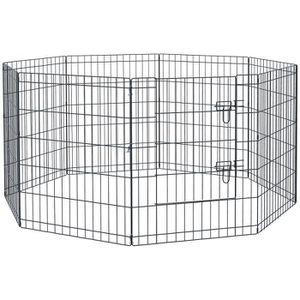 PARC Parc enclos acier pour chien animaux 1 porte 8 pan 6bce7d2c058e