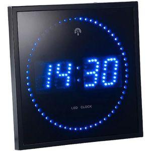HORLOGE - PENDULE Horloge digital bleue avec radio pilotage. - Bleu