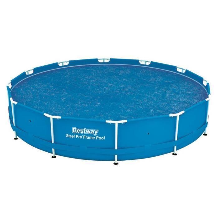 BESTWAY Bâche solaire Ø 356cm pour piscine Frame Pool Ø 366cm