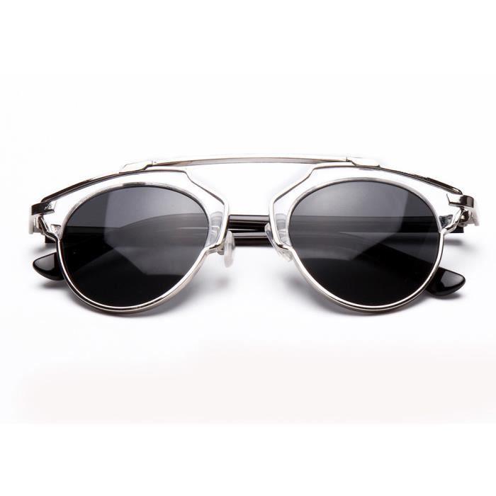 LJL70314131G@Femmes Hommes Vintage Retro Lunettes Unisexe Mode Aviator Mirror Lens Lunettes de soleil
