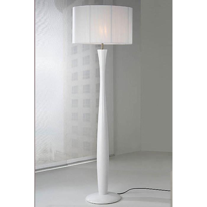 Lampadaire pour salon : modèle LIN (blanc) - Achat / Vente ...
