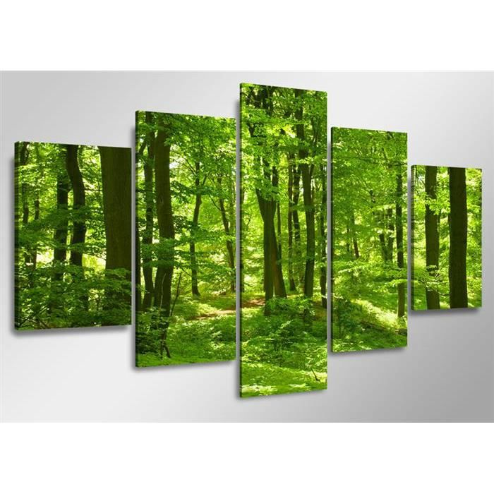 Tableau moderne imprim 160x80 cm foret achat vente - Tableau imprime sur verre ...